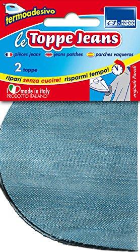 Parodi & Parodi Cucito Toppe Jeans, katoen, lichtblauw, 15 x 9 x 0,5 cm, 2 stuks