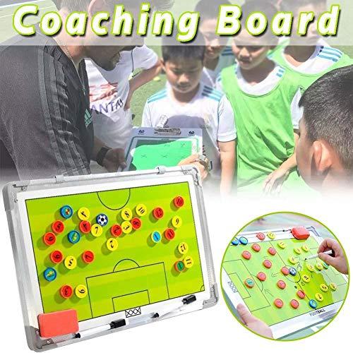 Wateralone 28 x magnetische Fußball-Coaching-Board für Fußball-Taktik-Strategie, doppelseitiger Metallrahmen, tolles Werkzeug für Coaching Taktik