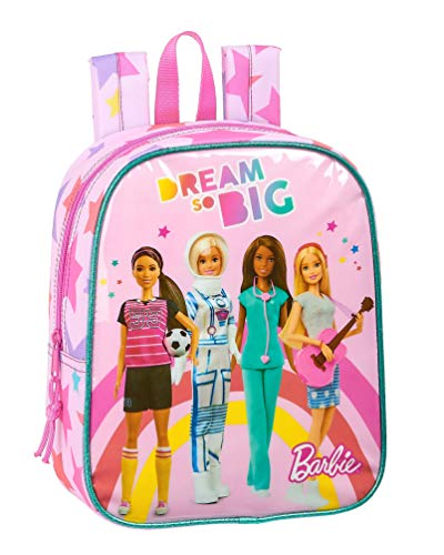 safta 612010232 Mochila guardería niña Adaptable Carro Barbie, Rosa