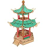 wassaw Holz Puzzle Gebäude Modell DIY Puzzle Sydit Set Up Alte Architektur Xinlian Sechseck Pavillon Puzzle Shandia Handwerk