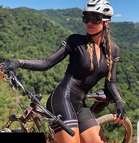 Damen Fahrrad Triathlon Overalls Fahrradtrikot Sets Langarm Overall Damen Radtrikot Sets (Color : 10, Size : XXL)