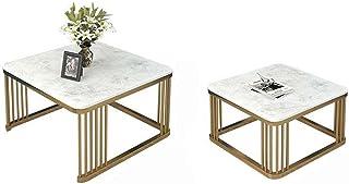 CJDM Combinaison de Table Basse de Taille carrée, Table Basse en marbre Simple, Table Basse créative de Bureau à Domicile