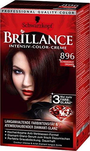 Brillance Intensiv-Color-Creme 896 Schwarzrot Organdi, 3er Pack (3 x 143 ml)