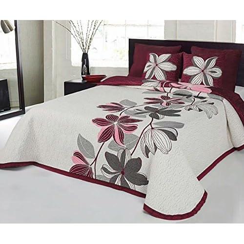 200 x 260 cm 25/% ALGOD/ÓN-75/% POLI/ÉSTER IZAR LILA cama de 105 Juvenil Mod - REVERSIBLE COTTON ART- Colcha PIQUE Infantil