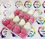 Cera de soja hecha a mano – Colección San Valentín – Larga duración altamente perfumada – Paquete de 16 cera derretida – 2 fragancias por The Melting Pot