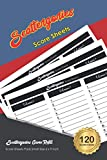 Scattergories Score Sheets: 120 Refill Sheets for Scattergories Game | Small Size 6 x 9 inch