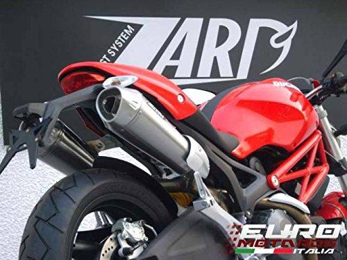 Ducati Monster 696 796 1100 Zard Exhaust Dual Slipon Conical Mufflers +2.5HP