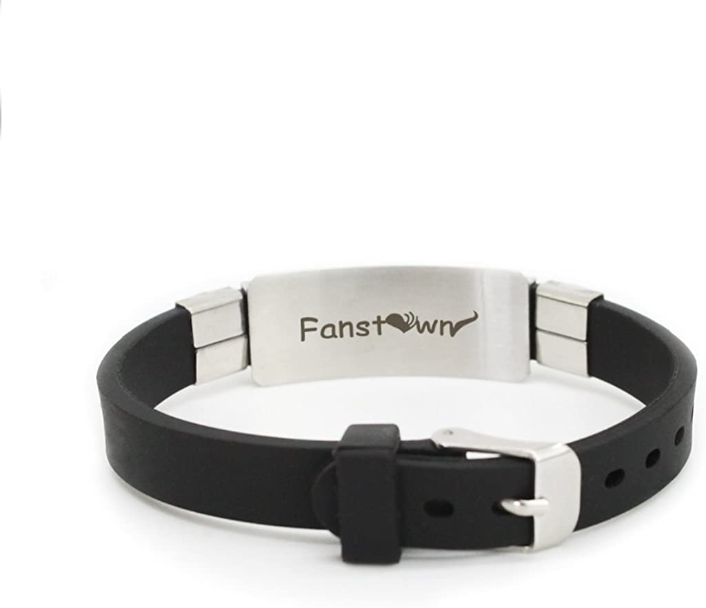 Fanstown DAY6 Kpop Stainless Steel Silicon Wristband Adjustable with lomo Cards