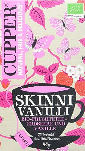 Cupper Tea Skinni Vanilli, 4er Pack (4 x 40 g)