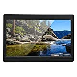 Dpofirs Pantalla de Monitor IPS Full HD de 10.1 '', Monitor Industrial portátil con Interfaz HDMI/VGA/AV, Amplio ángulo de visión de 178 Grados, 100-240V, Negro(con Audio 1280 * 800)