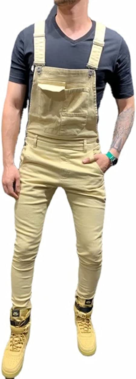 Men's online shopping In stock Denim Workwear Bib Overalls Fit Casual Jumpsuit with Slim