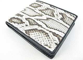 PELGIO Genuine Python Snake Skin Leather Bifold Wallet