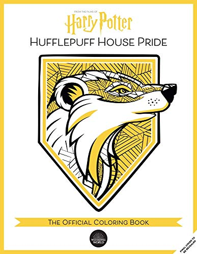 Hufflepuff House Pride: The Official Coloring Book: (gifts Books for Harry Potter Fans, Adult Coloring Books)