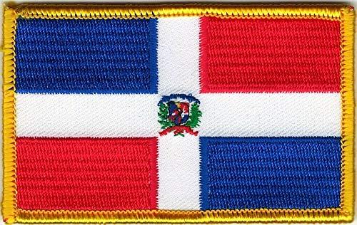 Flag Patch Velcro Hook Fastener Dominican Republic Color Compatible
