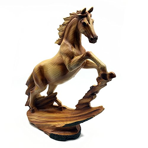 Pferd-Dekofigur, stehend, Holzoptik