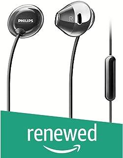 (Renewed) Philips Flite SHE4205 Headphones with Mic (Black)