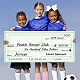 Giant Fake Presentation Check | Oversized Dry Erase Large Novelty Check for Awards, Prizes, Fundraisers, or Presentations | Realistic Design Reusable Jumbo Big Blank Gag Check by ORCA (36' x 16')