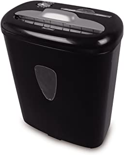 Aurora AS800CD Cross Cut Paper Shredder with 8 Sheet Capacity and Large Waste Bin, Black