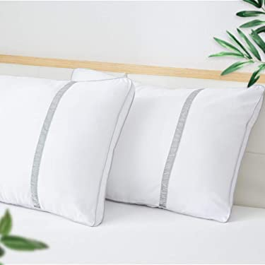 BedStory Pillows Pack of 2, Hotel Pillows for Sleeping, Dust Mite Resistant & Hypoallergenic, Standard Size Bed Pillow for Back/Stomach/Side Sleepers, Upgraded Versions 42x70cm