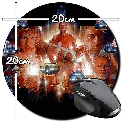 El Quinto Elemento The Fifth Element Bruce Willis Milla Jovovich Alfombrilla Redonda Round Mousepad PC