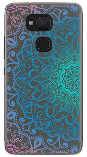 Tumundosmartphone Funda Gel Transparente para BQ AQUARIS V Plus/VS Plus diseño Mandala Dibujos