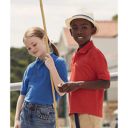 Fruit of the Loom Boys' Shirt blue Dunkles Marineblau 5-6 Years