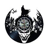 ROMK Reloj de Vinilo Batman CD Record Reloj de Pared LP Vinilo...