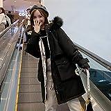 2020 Nueva Feather Down Parka Mujer en Long Loose espesantes pesados ropa de abrigo de invierno abrigo esquimal de las mujeres 929 (Color : Black, Size : M)
