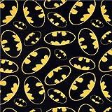 "Batman Logo Anti Pill Premium Fleece Fabric, 60"" Inches Wide – Sold By The Yard (FB)"