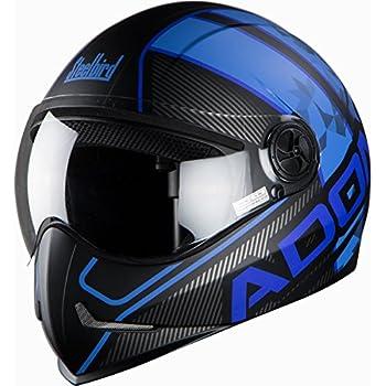 Steelbird SB-50 Adonis Majestic Matt Black with Blue with Plain visor,600mm