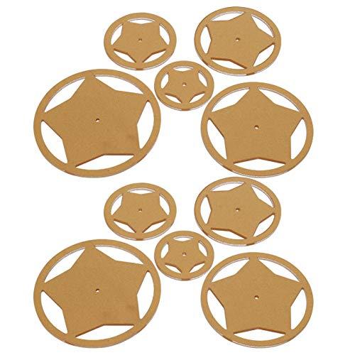 SALUTUYA 10 Stück Acryl Hochwertige, haltbare Schablonenvorlage zum Schneiden von Patchwork-Mustern