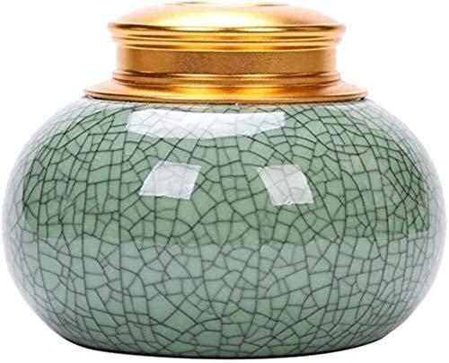 LULUDP Ataúdes y urnas Urna mamá florero, Alta Temperatura de su hogar o columbario Recuerdo Retro cerámica for Mostrar el entierro de la urna en el nicho de Recuerdos de la cremación