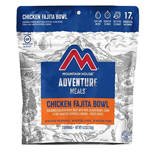 Mountain House Chicken Fajita Bowl | Freeze Dried Backpacking & Camping Food | 2 Servings | Gluten-Free