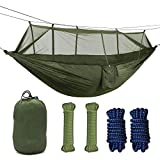 Camping Hammock with Mosquito Net, Single Persons Iqammocking Bed Tent Portable Cot for Relaxation,Traveling,Outside Leisure(CA Warehouse)