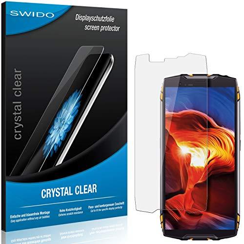 SWIDO Schutzfolie für Blackview BV6800 Pro [2 Stück] Kristall-Klar, Hoher Härtegrad, Schutz vor Öl, Staub und Kratzer/Glasfolie, Displayschutz, Displayschutzfolie, Panzerglas-Folie