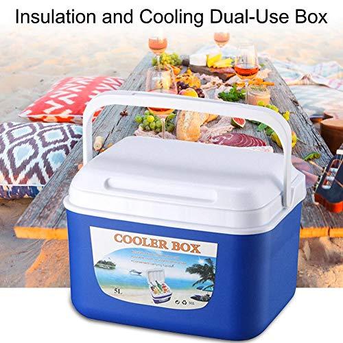 5L Isolierung und Kühlung Dual-Use-Box, tragbare tragbare Lebensmittelkonservierungsbox Autokühlbox Angelbox Zum Grillen auf dem Campingplatz, Picknick im Freien, Angeln und gekühlte Medizin