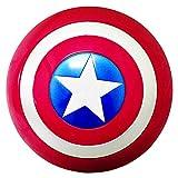 Getrichar Marvel'S Escudo del Captain America Shield Plastic con luz y música Superhéroe Retro Accesorios de Vestuario Juego de Roles Bar Decoraciones para Colgar en la Pared