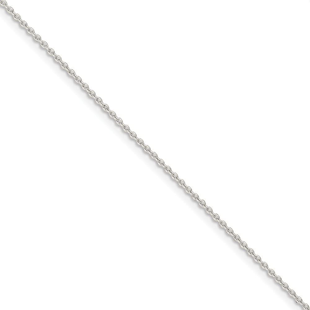 Superlatite Solid 925 Sterling Silver 1.5mm Necklace Chain 100% quality warranty Cable