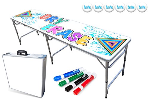 PartyPongTables.com 8-Foot Beer Pong Table - Dry Erase Surface