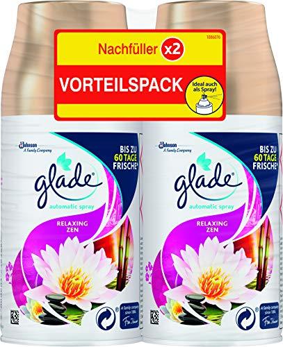 Glade (Brise) Automatic Spray Nachfüller für Lufterfrischer Gerät, Doppelpack, Relaxing Zen (2 x 269 ml), 538 ml