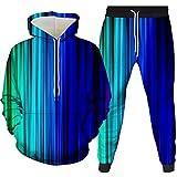 Sudadera con capucha y capucha en 3D Fashion Pullover Set de dos piezas con capucha