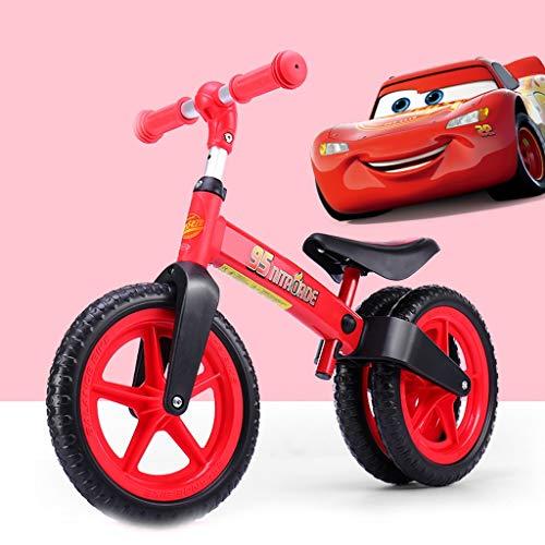 Balance Fahrrad Mit Disney Pictures, Strider Bike Doppelhinterräder, Inflation-Free EVA Reifen, 45 ° Lenkung, Gleichgewicht Bike Kleinkind Trainingsfahrrad For Kleinkinder Alten 2-6 Jahre