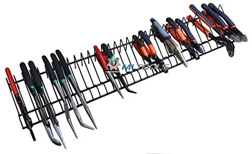 MLTOOLS   Pliers Organizer   Pliers Cutters Organizer   Rack Holder Storage   30 inch Long Holds 32 Tools   P8241