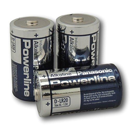 48Panasonic Powerline D LR20MN1300Alkaline Batterien