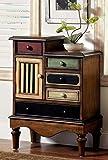 Furniture of America Circo Vintage Style Storage Chest, Antique Walnut (IDF-AC145)