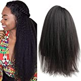 Italian Yaki 360 Lace Frontal Wigs for Women Pre Plucked Peruvian Kinky Straight 360 Lace Front Wig 150 Density Yaki Human Hair Wigs with Baby Hair SPARKLE DIVA (16inch, 360 yaki)