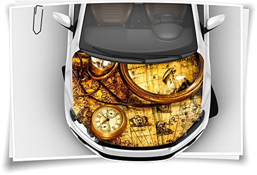Medianlux Klok Atlas kompas motorkap autosticker steenslagbeschermfolie Airbrush Tuning Car-Wrapping luchtkanaalfolie digitale print