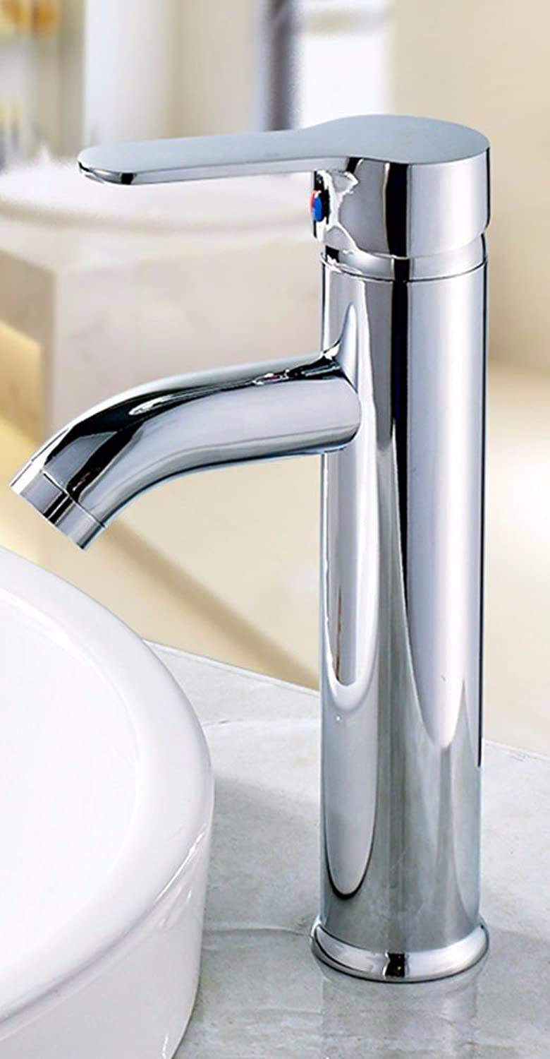 AWXJX Stainless Steel hot and cold copper click the handle Single Hole washbasin in the water tank and faucet