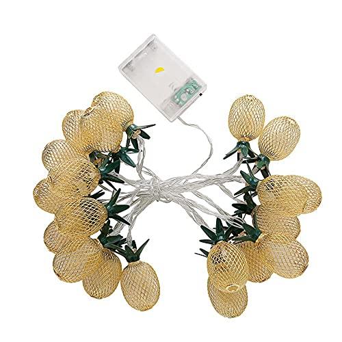 Cadena de luces LED de 10/20/40 (USB) con pilas de cuentos de hadas para fiestas familiares, bodas, Año Nuevo, decoración de jardín, luces (Modelo Battery_)_6 metros