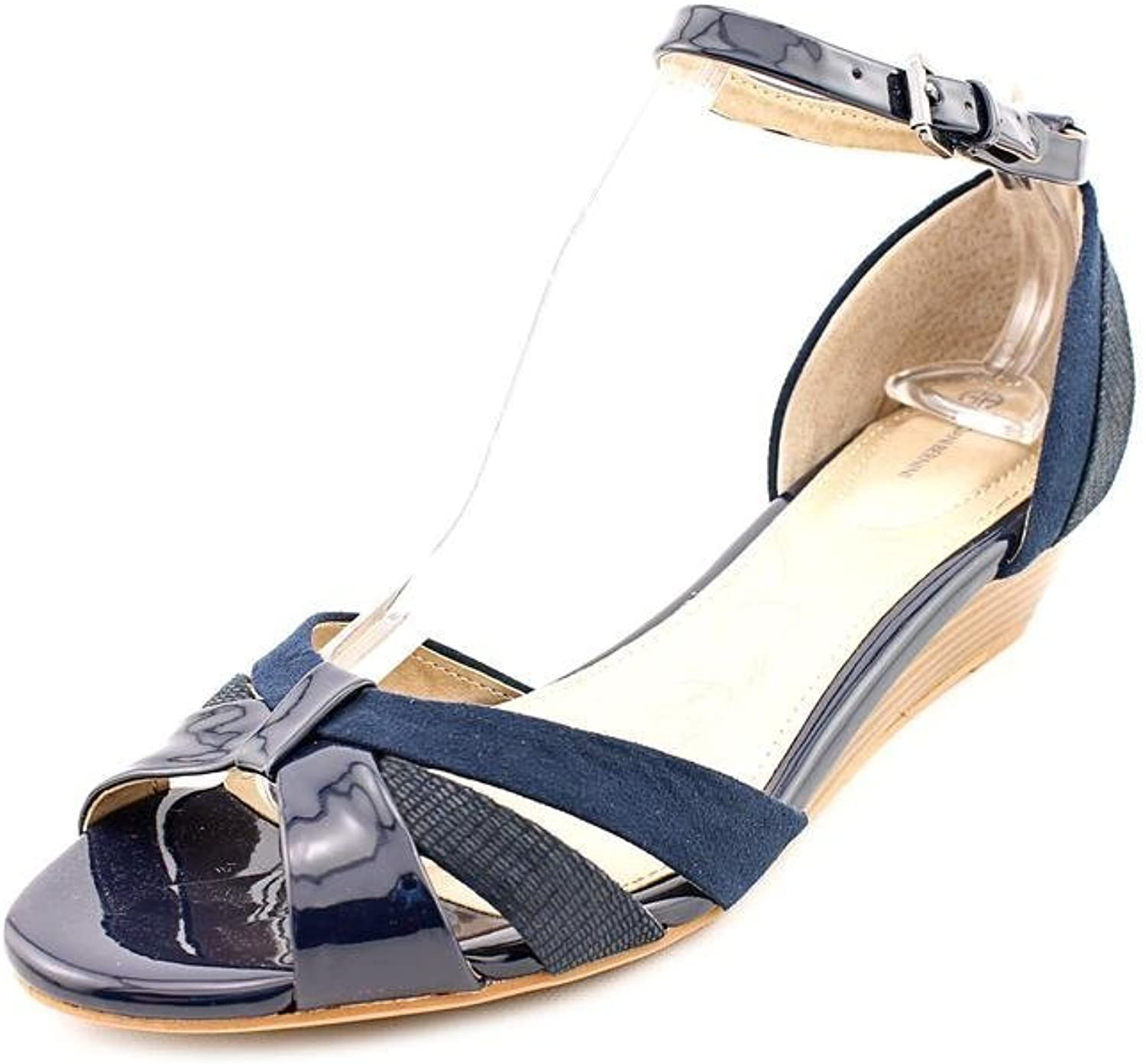Giani Bernini Reeo Womens Size 7 bluee Wedge Sandals shoes